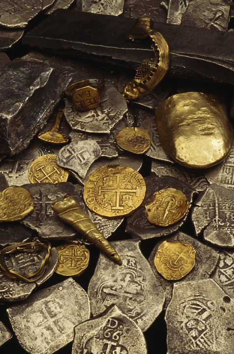 Recorvered treasure from the Whydah