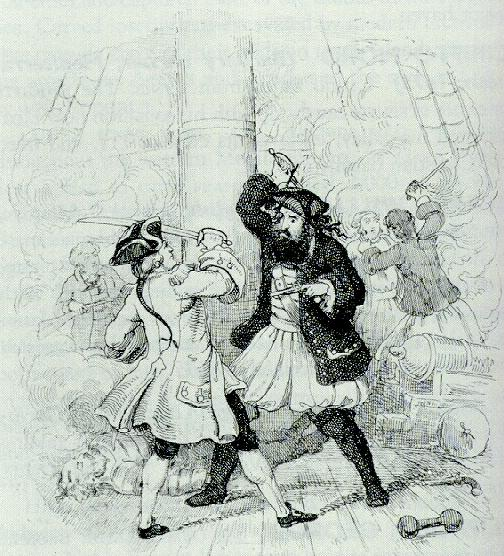 Fight between Blackbeard and Lt. Maynard