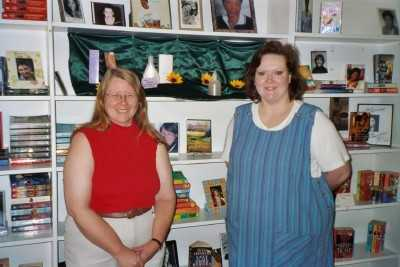 Cindy with Book Exchange Owner