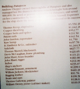 Patapsco: Construction Expenses