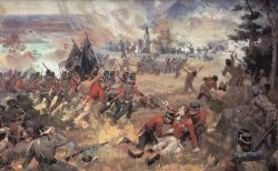 Death of General Isaac Brock at Battle of Queenstown Heights by John David Kelly