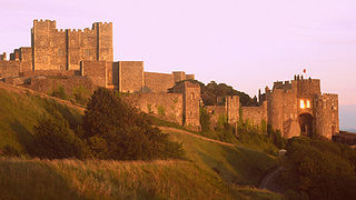 Dover Castle, photograph by Webzooloo from France,