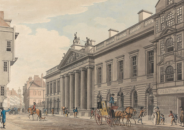 East India House c. 1800 by Thomas Malton the