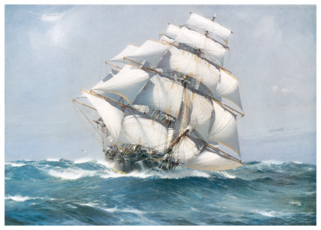American Clipper Flying Cloud (1851) -- Source: