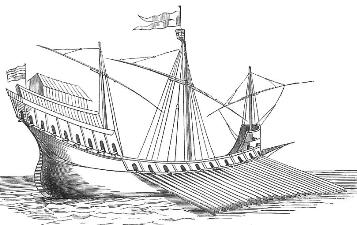 Galley common in Mediterranean c. 16th