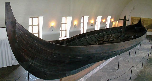 Side view of Gokstad Ship, photo by Bjorn