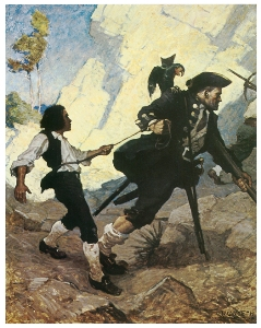 N. C. Wyeth's Jim Hawkins &<br /><br /><br />             Long John Silver in Treasure Island