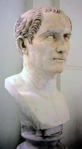 Bust of Gaius<br /><br /><br /><br />             Julius Caesar. Photographer: Andreas Wahra, 3/1997. Location<br /><br /><br /><br />             of Art: National Archaeological Museum of Naples. Source:<br /><br /><br /><br />             Wikipedia Commons.