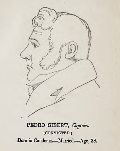 Likeness of Pedro Gibert during his trial