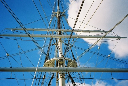 Yards of the mainmast