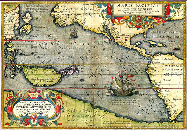 Maris Pacifici by Abraham Ortelius, 1589 (Source: