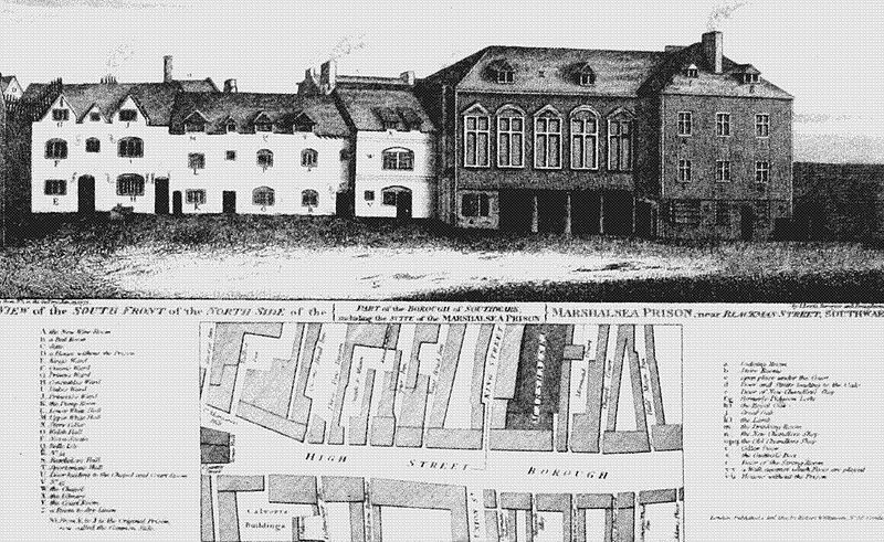 First Marshalsea on Borough High Street from