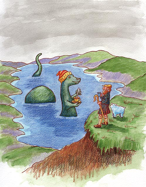 Having tea with Nessie