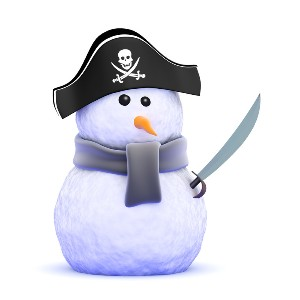 Pirate Snow man from Can Stock Photo