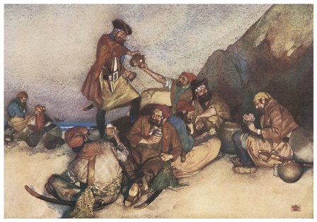 Pour, oh pour the<br /><br /><br /><br />                     pirate sherry; Fill, oh fill the pirate glass --<br /><br /><br /><br />                     William Russell Flint