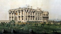 President's House after Burning of Washington by George Munger