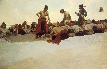 Divide the Treasure by Howard Pyle