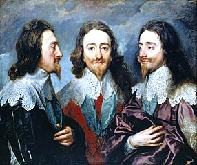 Charles I in three positions by Anthony van