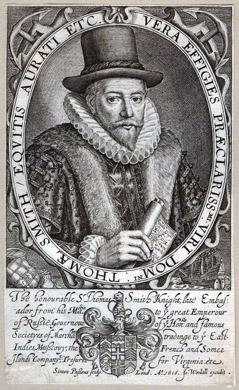 Sir Thomas Smythe by Simon De Passe 1617 (Source: