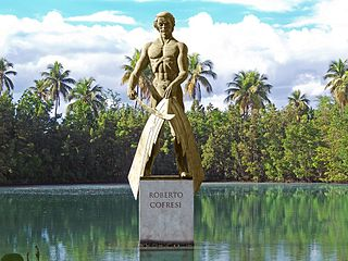 Statue of Robert Cofresi from Jerjes Medina Albino