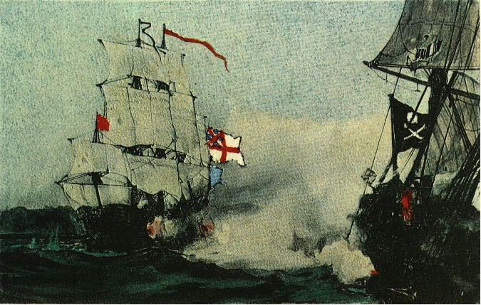 HMS Swallow attacks Royal Fortune