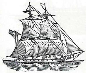 Brigatine (Source: Dover Clip Art)
