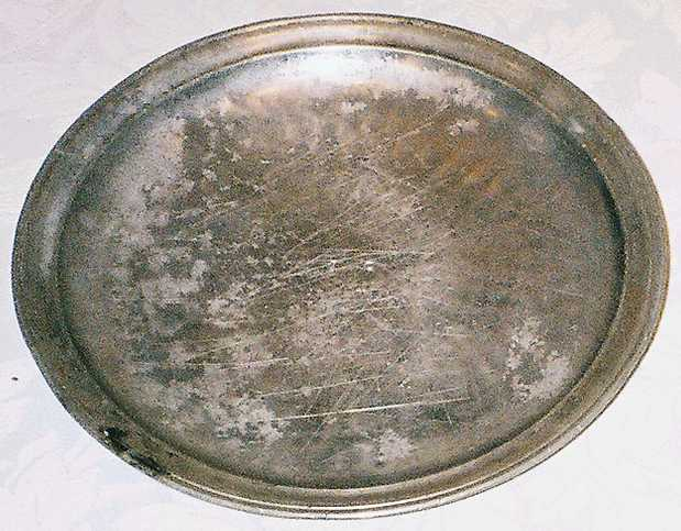 Pewter Plate from excavation of Port Royal